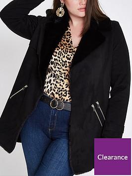 ri-plus-faux-fur-lined-jacket-black