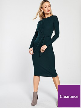 river-island-river-island-tie-front-casual-jersey-dress