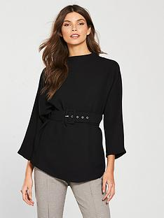 river-island-belted-top-black