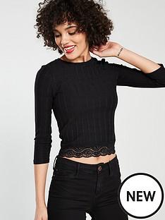 river-island-lace-hem-t-shirt-black