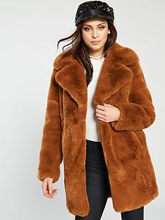 river-island-faux-fur-coat-brown
