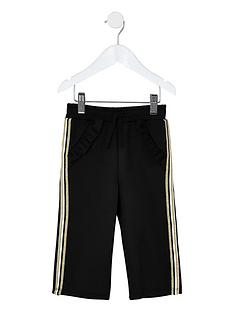 river-island-mini-mini-girls-black-scuba-frill-tape-joggers