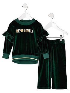 river-island-mini-girls-green-be-lovely-frill-velvet-outfit