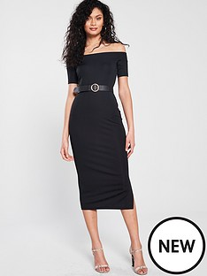 river-island-bardot-dress-black