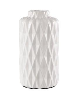 ideal-home-glazed-white-faceted-vase