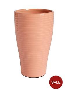 glazed-ribbed-vase