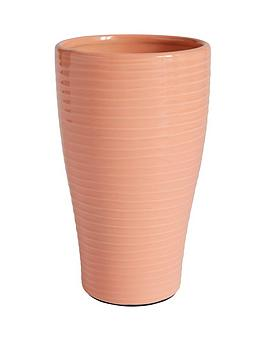 Very Glazed Ribbed Vase Picture
