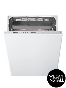 whirlpool-wsio3t223pcex-10-place-slimline-integrated-dishwasher-with-quick-wash-6th-sense-power-clean-pro-and-optional-installation-stainless-steel