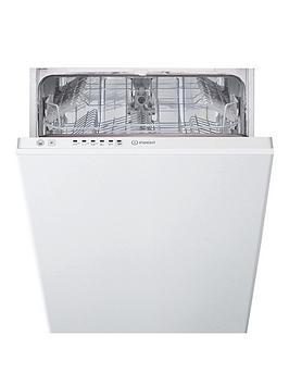 Indesit   Dsie2B10 10-Place Slimline Integrated Dishwasher With Quick Wash - White - Dishwasher Only