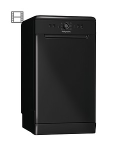 hotpoint-hsfe1b19b-10-place-slimline-dishwasher-with-quick-wash-black