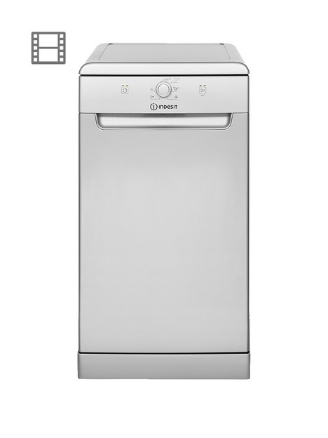 indesit-dsfe1b10sukn-10-place-slimline-dishwasher-with-quick-wash-silver