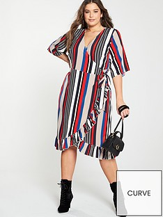 girls-on-film-curve-girls-on-film-curve-stripe-midi-wrap-dress-with-frill-front