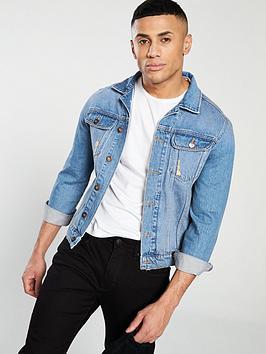 v-by-very-distressed-denim-jacket-stone-wash