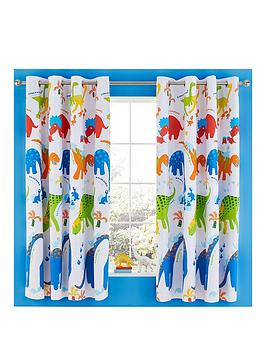 Catherine Lansfield Catherine Lansfield Dino-Saw Blackout Eyelet Curtains Picture