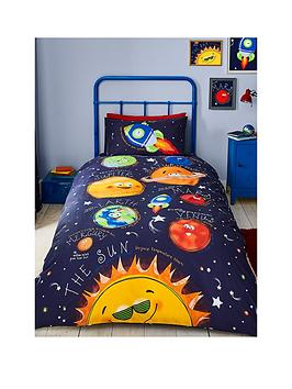 Catherine Lansfield Catherine Lansfield Happy Space Single Duvet Cover Set Picture