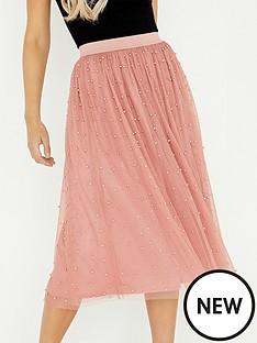 little-mistress-peal-mesh-co-ord-skirt