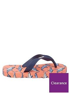 joules-boys-shark-flip-flops-orange
