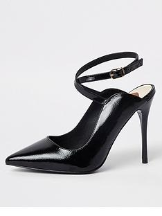 river-island-river-island-wide-fit-ankle-strap-court-shoe-black