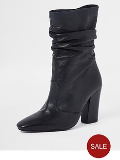 river-island-river-island-premium-slouch-leather-boot-black