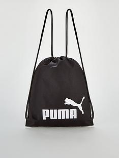 puma-string-cord-logonbspgym-ruck-sack-blackwhite