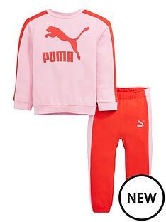 puma-baby-girls-minicats-crew-jogger-set
