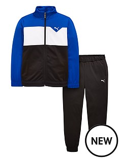 puma-older-boys-tricot-suit-navyblackwhitenbsp