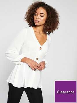 v-by-very-washed-linen-button-through-blouse-ivorynbsp