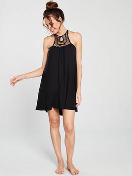 dorina-boho-crochet-high-neck-crossover-beach-dress-ndash-black