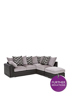 sansa-faux-snakeskin-and-fabric-right-hand-corner-chaise-scatter-back-sofa-and-footstool