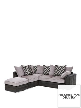 sansa-faux-snakeskin-and-fabric-left-hand-corner-chaise-scatter-back-sofa-and-footstool