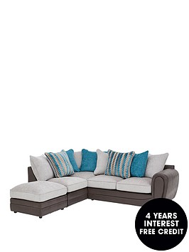 callunanbspfabric-left-hand-scatter-back-corner-chaise-sofa-andnbspfootstool