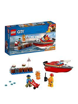 LEGO City  Lego City 60213 Dock Side Fire