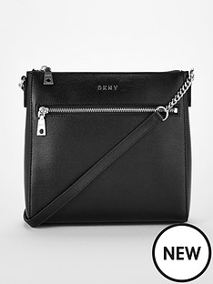 dkny-bryant-crossbody-ziptop-bag-blacksilver