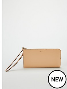 dkny-bryant-medium-wrist-strap-purse-nude