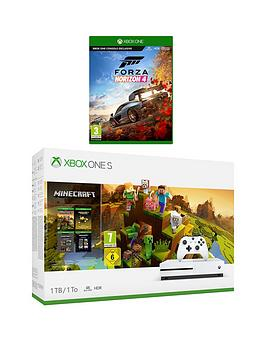xbox-one-s-minecraftnbspcreator-1tbnbspconsole-bundle-with-forza-horizon-4-and-optional-extras