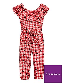 mini-v-by-very-girls-gingham-cherry-print-jumpsuit-red