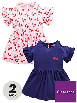 mini-v-by-very-girls-2-pack-cherry-print-jersey-dresses-multi