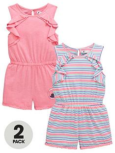 mini-v-by-very-girls-2-pack-jersey-frill-playsuitsnbsp--multi