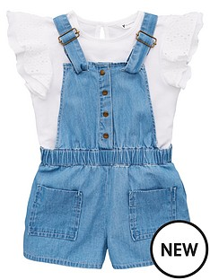 mini-v-by-very-girls-frill-top-amp-dungaree-outfit-multi