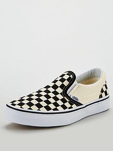 vans-checkerboard-classic-slip-on-plimsolls-blackwhite
