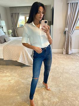 Michelle Keegan Michelle Keegan Premium Skinny Distressed Jeans - Blue Picture