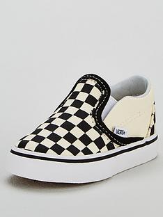 vans-classic-checkerboard-slip-on-plimsolls-blackwhite