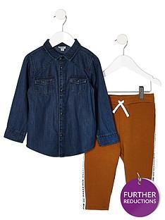 river-island-mini-mini-boys-denim-shirt-and-jogger-outfit
