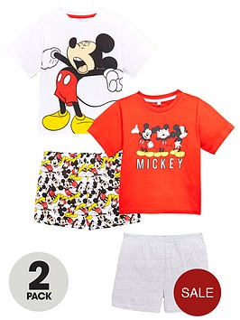 mickey-mouse-boys-2pk-shorty-pyjamas