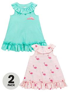 mini-v-by-very-girls-2-pack-ruffle-flamingo-dresses-multi