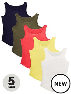 v-by-very-girls-5-pack-vests-multi