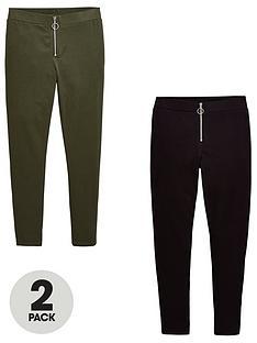 v-by-very-girls-2-pack-zip-leggings-multi
