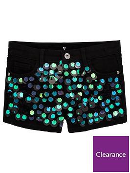 v-by-very-girls-sequin-disk-denim-shorts-black