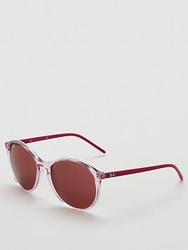 ray-ban-phantosnbspround-transparent-sunglasses-pink