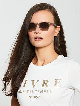 Ray-Ban Ray-Ban Irregular Shiny Opal Sunglasses - Brown Picture